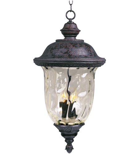 Maxim 3428WGOB Carriage House DC 3 Light 14 inch Oriental Bronze Outdoor Hanging Lantern photo