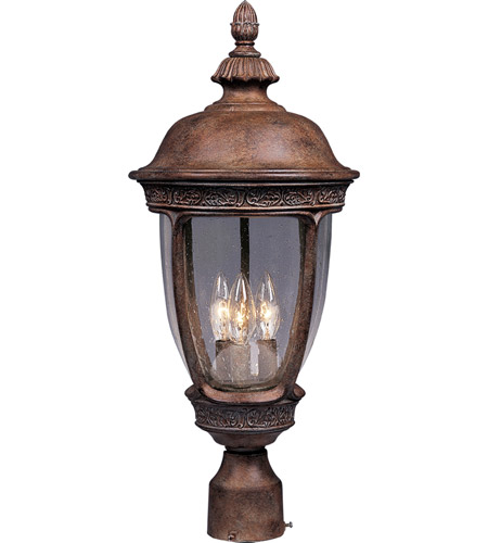 Maxim Lighting Knob Hill DC 3 Light Outdoor Pole/Post Lantern in Sienna 3460CDSE photo