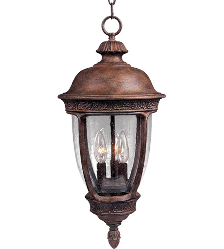 Maxim 3468CDSE Knob Hill DC 3 Light 13 inch Sienna Outdoor Hanging Lantern photo