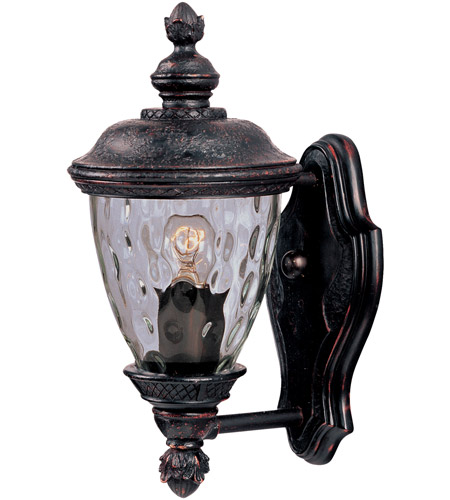 Maxim Lighting Carriage House DC 1 Light Outdoor Wall Mount in Oriental Bronze 3495WGOB photo