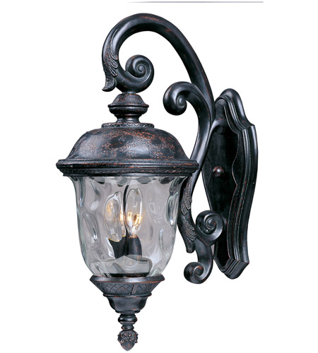 Maxim 3497WGOB Carriage House DC 3 Light 27 inch Oriental Bronze Outdoor Wall Mount photo