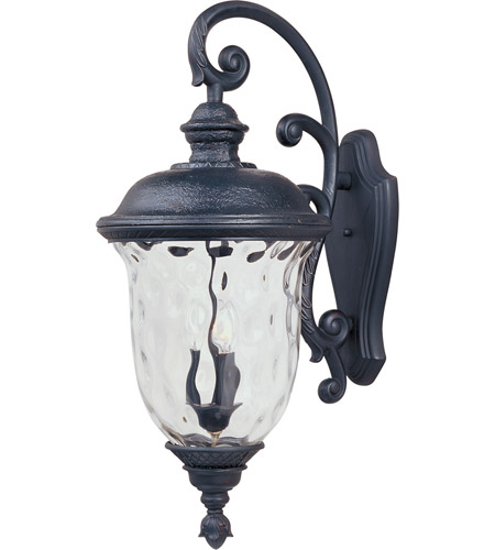 Maxim Lighting Carriage House DC 3 Light Outdoor Wall Mount in Oriental Bronze 3498WGOB photo