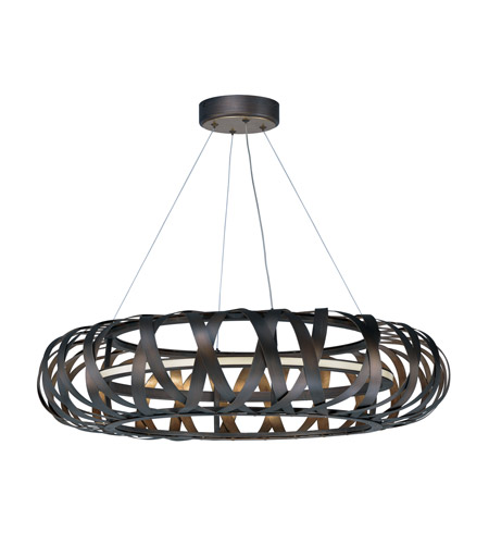 Maxim 35055BZGTGLD Weave LED 30 inch Bronze Gilt and Gold Entry Foyer Pendant Ceiling Light photo