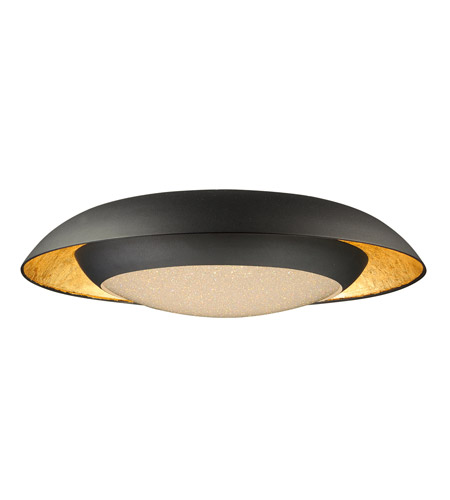 Charming Maxim 35074CYGLBK Iris LED 24 Inch Gold Leaf And Black Flush Mount Ceiling  Light