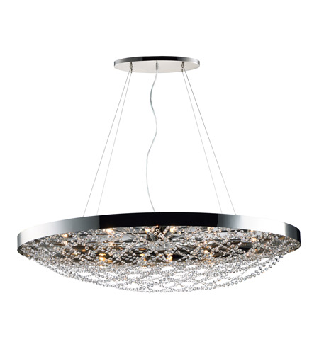 Maxim 35087bcpn Lace 10 Light 22 Inch Polished Nickel Multi Pendant Ceiling