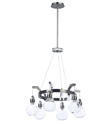 Maxim 39695CLDSN Kinetic LED 30 Inch Dark Satin Nickel Multi Light Pendant  Ceiling Light Photo