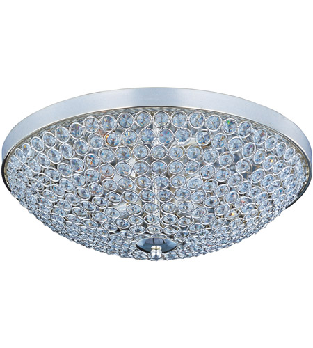 Maxim 39871BCPS Glimmer 4 Light 15 inch Plated Silver Flush Mount Ceiling Light photo