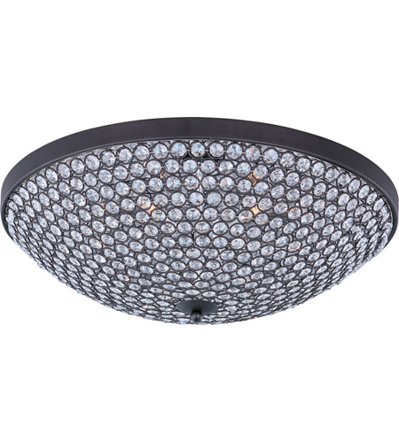Maxim 39872BCBZ Glimmer 6 Light 19 inch Bronze Flush Mount Ceiling Light photo