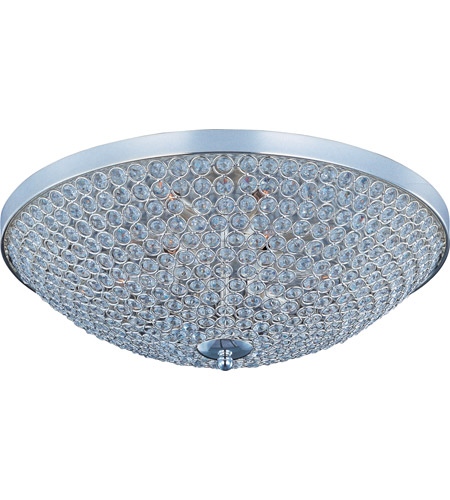 Maxim Lighting Glimmer 9 Light Flush Mount in Plated Silver 39873BCPS photo