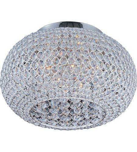 High Quality Maxim 39875BCPS Glimmer 5 Light 15 Inch Plated Silver Flush Mount Ceiling  Light Photo