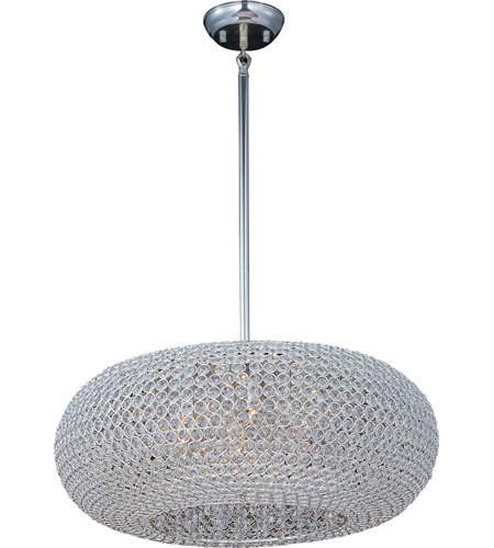 Maxim Lighting Glimmer 9 Light Pendant in Plated Silver 39879BCPS photo