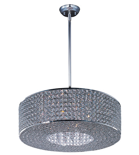 Maxim 39896BCPS Glimmer 10 Light 22 inch Plated Silver Single Pendant Ceiling Light photo