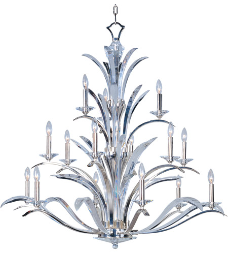 Maxim 39947BCPS Paradise 15 Light 46 inch Plated Silver Multi-Tier Chandelier Ceiling Light photo