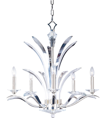 Maxim 39948BCPS Paradise 5 Light 28 inch Plated Silver Single Tier – Single Light Chandelier
