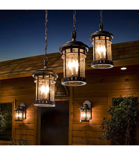Maxim Lighting Santa Barbara VX 3 Light Outdoor Hanging Lantern in Sienna 40038CDSE photo