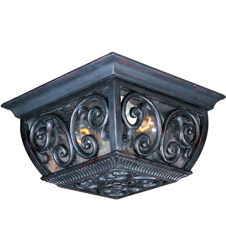 Maxim 40129CDOB Newbury VX 2 Light 11 inch Oriental Bronze Outdoor Ceiling Mount photo