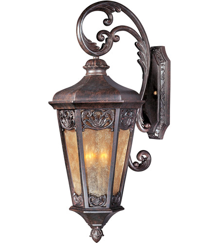 Maxim 40174NSCU Lexington VX 3 Light 28 Inch Colonial Umber Outdoor Wall  Mount Photo