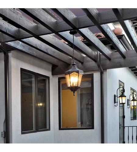 Maxim Lighting Garden VX 3 Light Outdoor Hanging Lantern in Oriental Bronze 40279WGOB photo