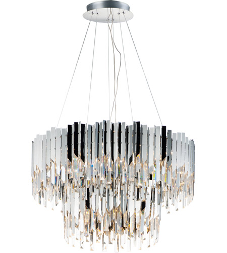 Maxim 40306BCPC Paramount LED 30 inch Polished Chrome Chandelier Ceiling Light photo thumbnail