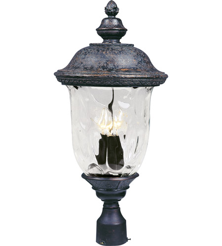 Maxim 40420WGOB Carriage House VX 3 Light 27 inch Oriental Bronze Outdoor Pole/Post Lantern photo
