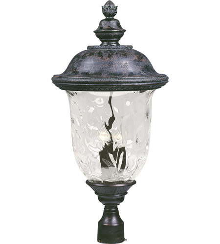 Maxim 40421WGOB Carriage House VX 3 Light 29 inch Oriental Bronze Outdoor Pole/Post Lantern photo