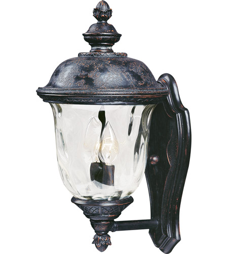 Maxim 40422WGOB Carriage House VX 2 Light 16 inch Oriental Bronze Outdoor Wall Mount photo
