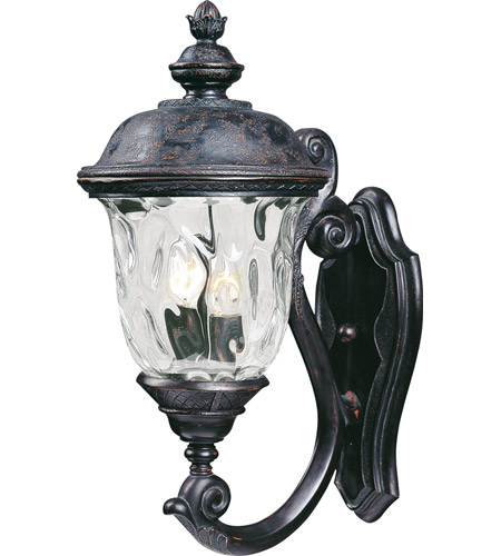 Maxim 40423WGOB Carriage House VX 2 Light 20 inch Oriental Bronze Outdoor Wall Mount photo
