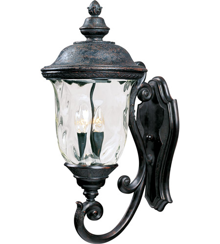 Maxim 40424WGOB Carriage House VX 3 Light 27 inch Oriental Bronze Outdoor Wall Mount photo