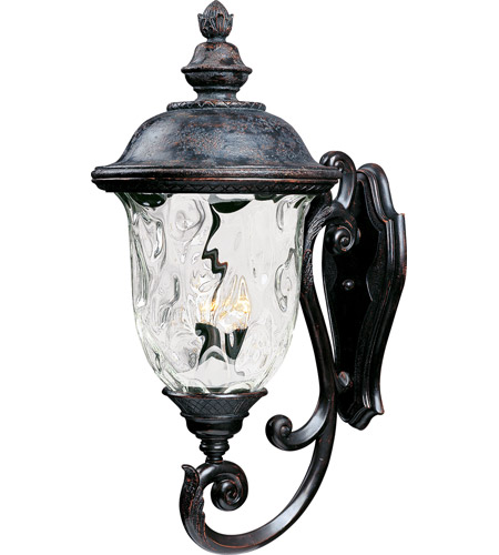 Maxim 40425WGOB Carriage House VX 3 Light 31 inch Oriental Bronze Outdoor Wall Mount photo