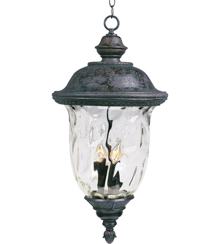 Maxim Lighting Carriage House VX 3 Light Outdoor Hanging Lantern in Oriental Bronze 40427WGOB photo