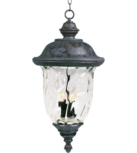 Maxim Lighting Carriage House VX 3 Light Outdoor Hanging Lantern in Oriental Bronze 40428WGOB photo