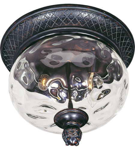 Maxim 40429WGOB Carriage House VX 2 Light 12 inch Oriental Bronze Outdoor Ceiling Mount photo