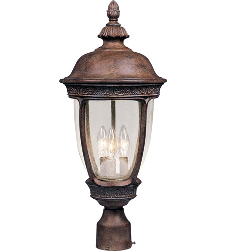 Maxim Lighting Knob Hill VX 3 Light Outdoor Pole/Post Lantern in Sienna 40460CDSE photo