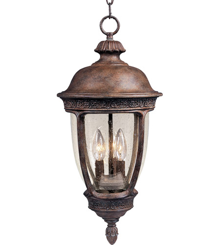 Maxim Lighting Knob Hill VX 3 Light Outdoor Hanging Lantern in Sienna 40467CDSE photo
