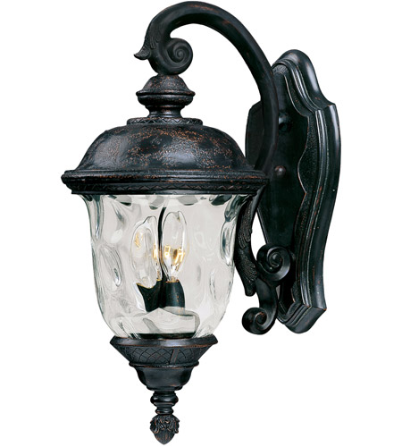 Maxim Lighting Carriage House VX 2 Light Outdoor Wall Mount in Oriental Bronze 40496WGOB photo