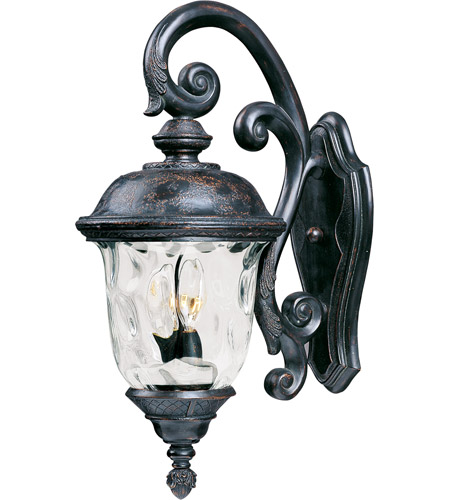 Maxim 40497WGOB Carriage House VX 3 Light 27 inch Oriental Bronze Outdoor Wall Mount photo