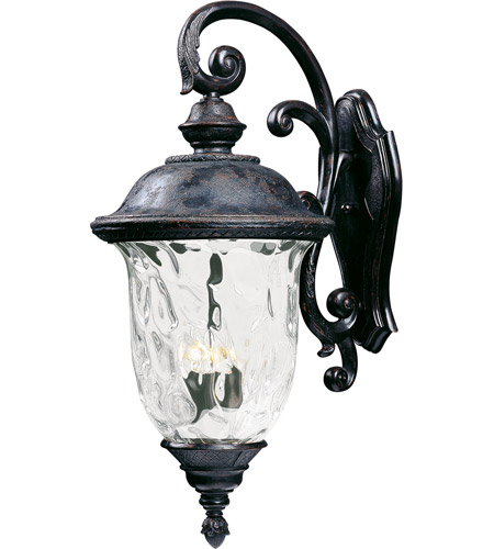 Maxim 40498WGOB Carriage House VX 3 Light 31 inch Oriental Bronze Outdoor Wall Mount photo thumbnail