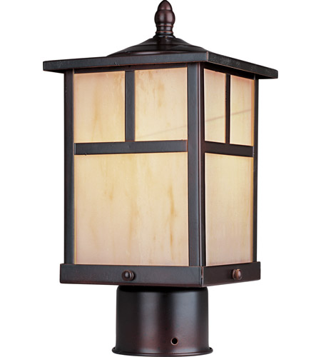 Maxim 4055HOBU Coldwater 1 Light 12 inch Burnished Outdoor Pole/Post Lantern photo