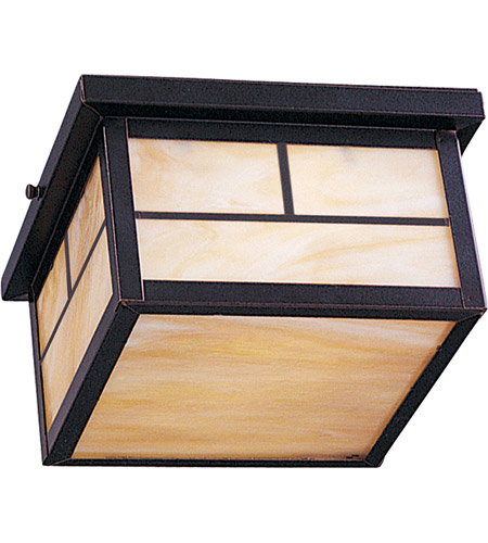 Maxim 4059HOBU Coldwater 2 Light 9 inch Burnished Outdoor Ceiling Mount photo