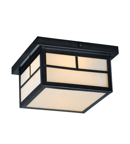 Maxim 4059WTBK Coldwater 2 Light 9 inch Black Outdoor Flush Mount photo