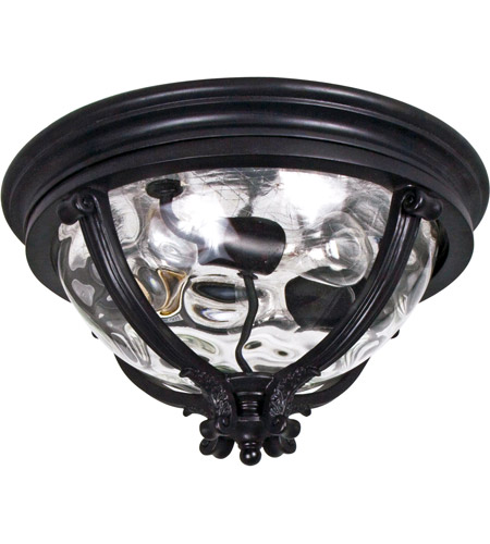 Maxim 41420WGBK Camden VX 3 Light 16 inch Black Outdoor Ceiling Mount photo