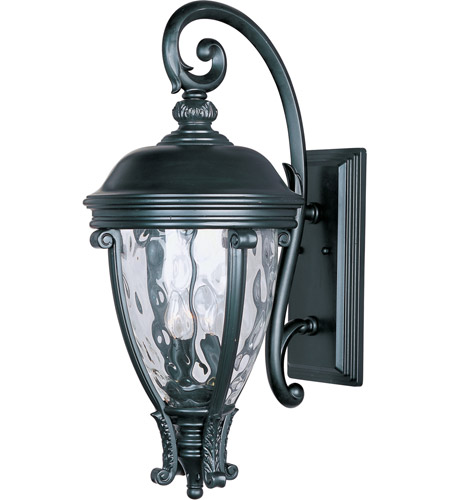 Maxim 41426WGBK Camden VX 3 Light 29 inch Black Outdoor Wall Mount photo