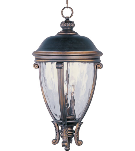 Maxim 41429WGGO Camden VX 3 Light 13 inch Golden Bronze Outdoor Hanging Lantern photo