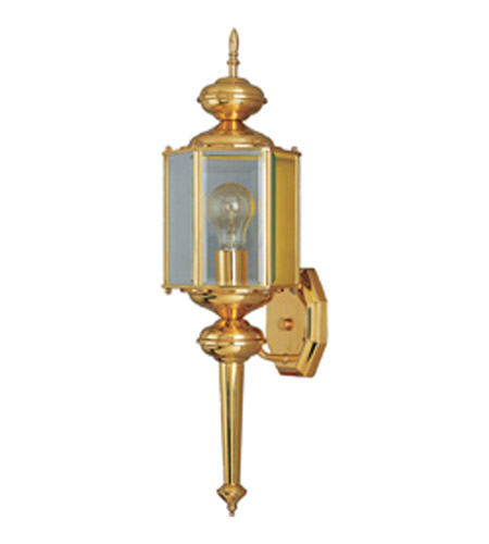 Maxim Lighting Signature 1 Light Outdoor Wall Mount in Polished Brass 4623CLPB photo