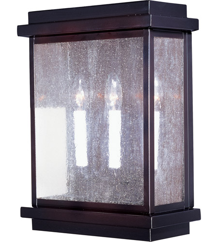 Maxim 4650CDBU Cubes 3 Light 16 inch Burnished Outdoor Wall Mount photo