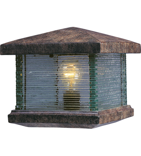 Maxim 48736CLET Triumph VX 10 inch 60 watt Earth Tone Outdoor Deck Lantern photo