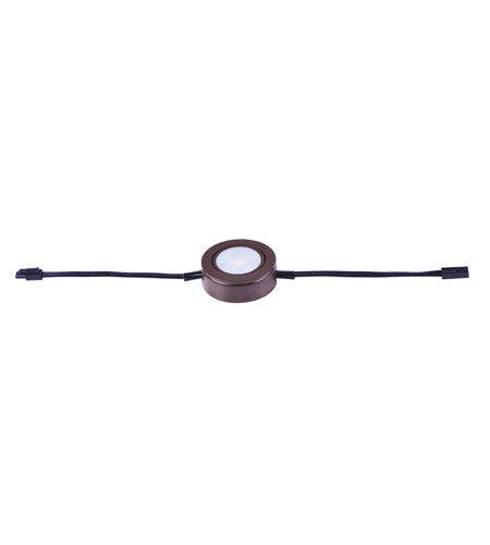 Maxim 53832BRZ CounterMax MX-LD-AC LED 3 inch Anodized Bronze Under Cabinet Disc photo