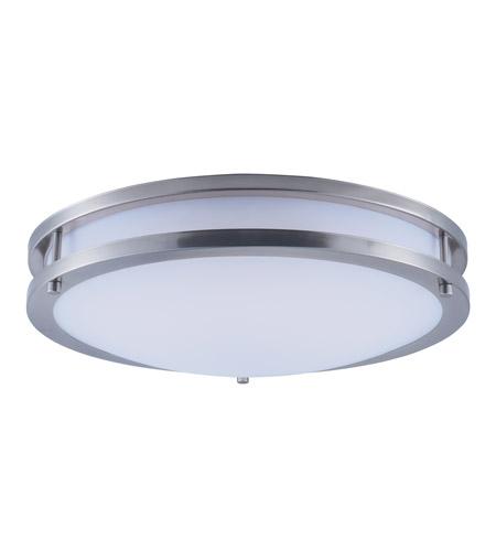 maxim linear led satin nickel flush mount ceiling light fixture 26 watt 16 dimmable