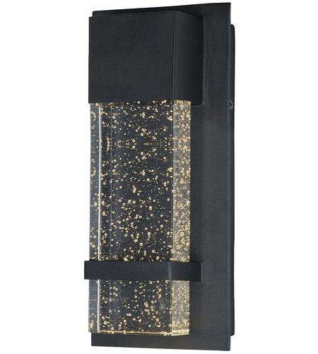 maxim 55912bgbk cascade led 14 inch black outdoor wall sconce