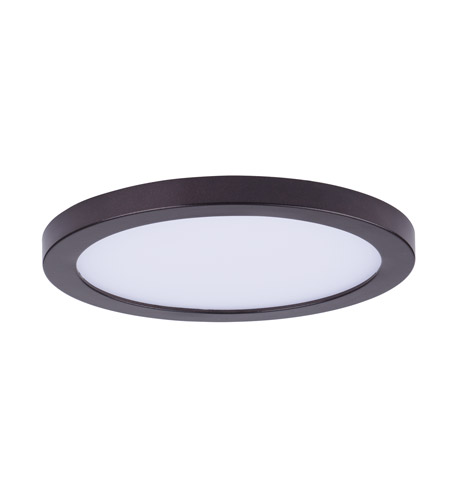 Maxim 57712wtbz wafer led 7 inch bronze flush mount ceiling light aloadofball